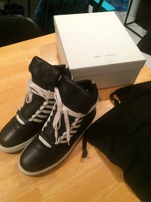 Kris Van Assche Side Laced Leather High Top Sneakers Size 12 45 black
