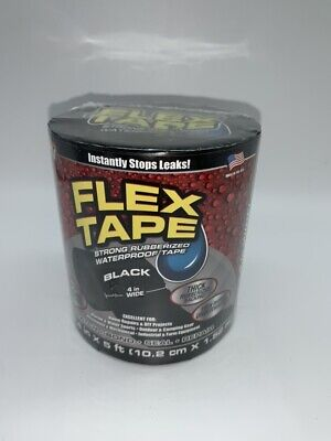 Flex Tape Strong Rubberized Waterproof Flex Tape 4 X 5 Black New