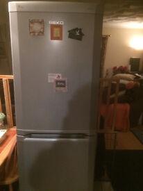 silver fridge freezer A class frost free