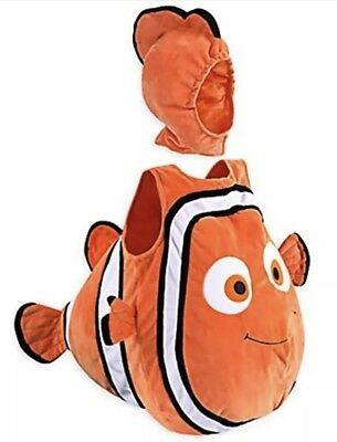 Finding Nemo Halloween Costume Toddler (Disney Store Finding Nemo Costume Plush Halloween 3 - 6 Months W/ Hat &)