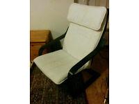 IKEA Poang rocking chair (black/white)