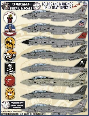 Furball decal 1/48 USN F-14 Tomcats Colors & Markings Part II - FDS4809