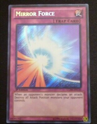 Yu-Gi-Oh! LCJW-EN130 Mirror Force 1st Edition Rare M/NM Yu Gi Oh Mirror Force