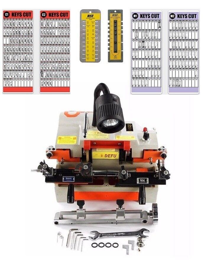 NEW THM Dual Twister 100E1 Key Cutting Machine With Boards & 1430 Keys