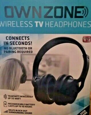 OWN ZONE Black Wireless TV Headphones - FAST PRIORITY SHIP - easy to use