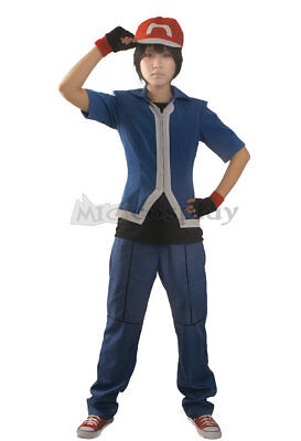 Pokemon X and Y Ash Ketchum Cosplay  Costume for Adults and - Pokemon Ash Costume For Adults