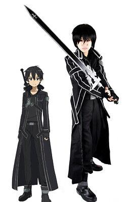 Anime Sword Art Online Kirito Kazuto Kirigaya Cosplay Black Halloween Costume - Halloween Costumes Online