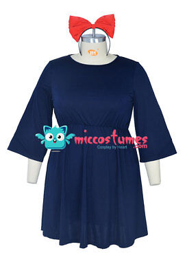 Plus Size Kikis Delivery Service Halloween Cosplay Costume Witch Dress - Halloween Delivery