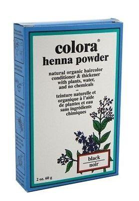 Colora Henna Powder Hair Color Black, 2 oz