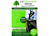 C & L Landscaping Services, gardening, fencing, paving, driveways, tree surgery , tree surgeon,