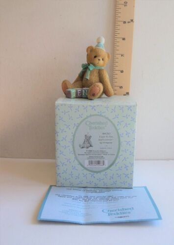 """Cherished Teddies Birthday 10 """"Count to Ten And Celebrate"""" NEW in Box Teddy Bear"""