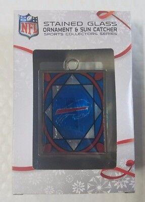 Buffalo Bills Stained Glass Christmas Tree Ornament NEW Sun (Buffalo Bills Stained Glass)