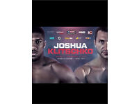 Joshua vs Klitschko Tickets x2