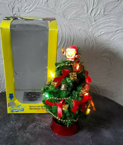 Nickelodeon Spongebob Squarepants Muscial Light Up Christmas Tree