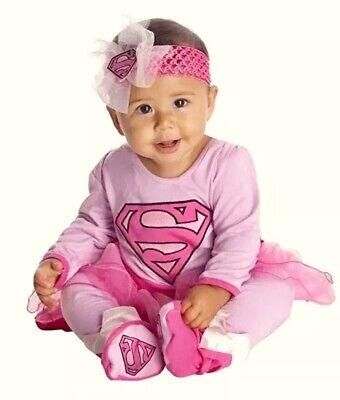 Infant DC Super Friends Supergirl Costume Girls Size 0-6 Months NEW