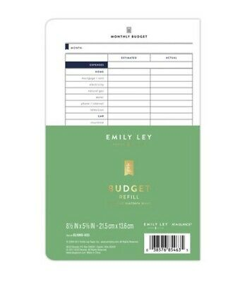 Emily Ley Simplified System Budget Refill 5 38 X 8 12 Item 9701421 Planner