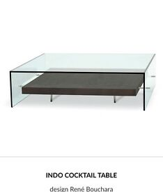 Bespoke Roche Bobois glass INDO COCKTAIL TABLE design René Bouchara