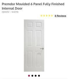 Internal doors primed 6 panel textured ( premdoor) solid core ones
