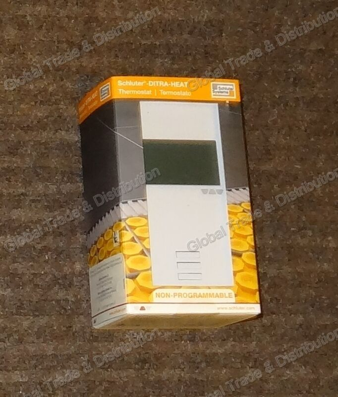 Schluter Systems Ditra Heat E Digital NON Programmable Thermostat DHERT103/BW