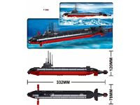 Navy Army Nuclear Submarine Ship 1:350 Building Toy Blocks