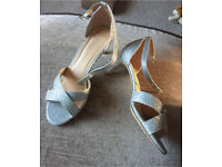 Silver glittery shoes size 7
