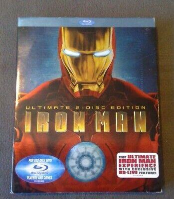 IRON MAN Ultimate Edition Blu-ray w/Slipcase   RARE ULTIMATE VERSION