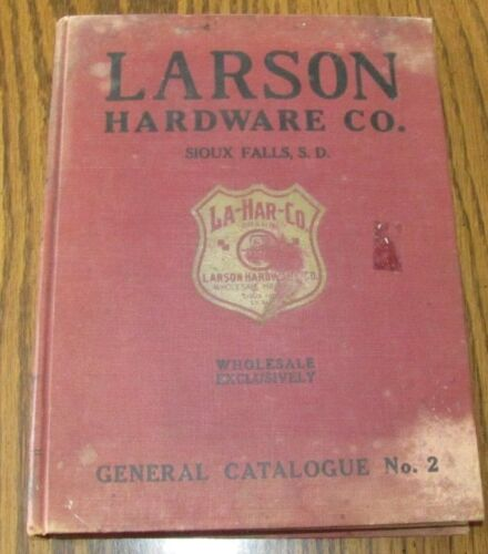 1900s Larson Hardware Catalog Sioux Falls SD Pocket Knives,Keys,Gun,Fishing,Tool