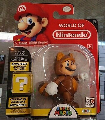Tanooki Mario 4  Jakks Pacific World Of Nintendo Action Figure