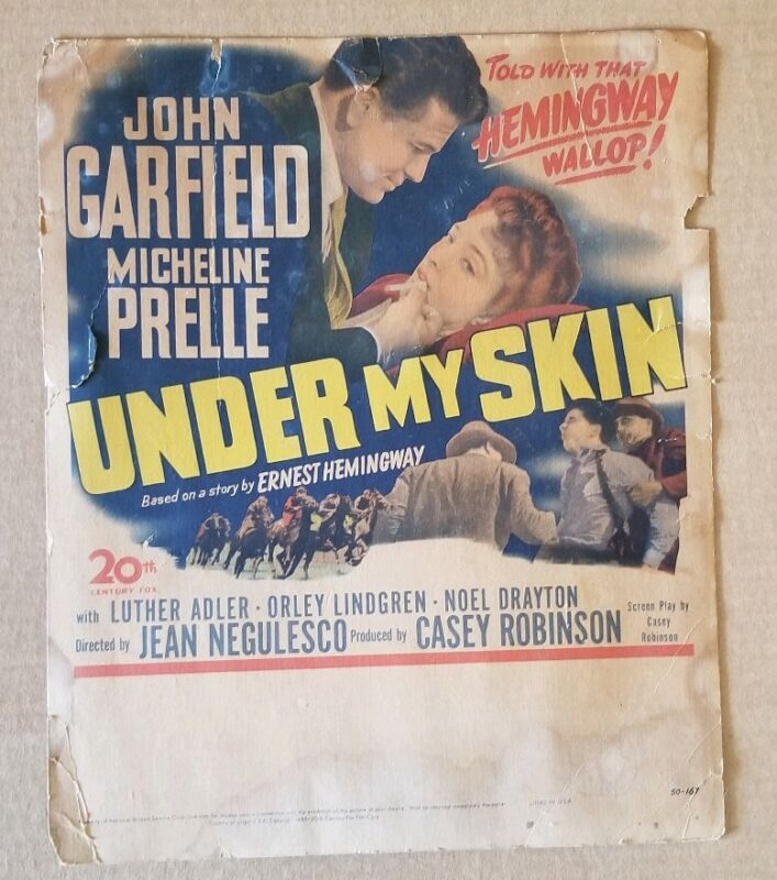 1950s Under My Skin Vintage Rare collectible Poster