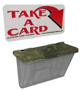 Outdoor vehicle business card holders blue zombie for Automatic business card dispenser