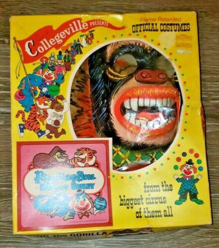 Ringling Bros Barnum Bailey Ring Gorilla Costume Mask Collegeville 12-14 1969