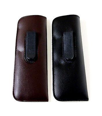 Vinyl Glasses Case slip-in holder black brown eyeglasses pou