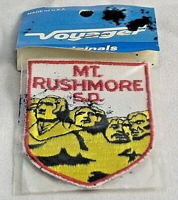 """Vintage Mt RUSHMORE SD Souvenir Embroidered Patch New in Package """"03"""""""