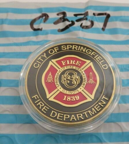 CITY OF SPRINGFIELD FIRE DEPARTMEMT CHALLENGE COIN C337
