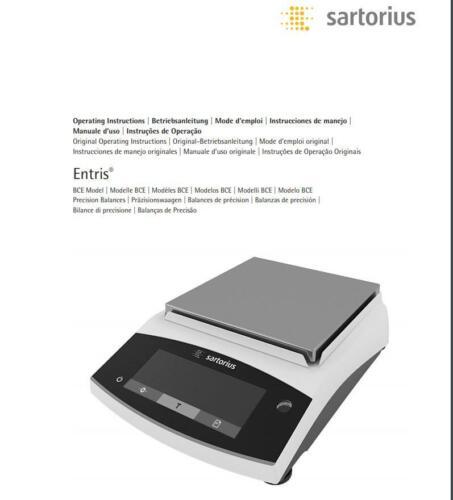 Sartorius Entris II BCE6200I-1S Precision Balance 6,200 g  1 g Internal Cal