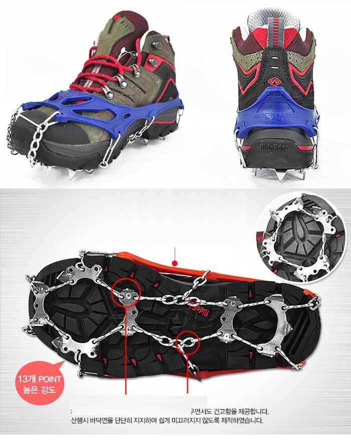 как выглядит Anti Slip 13-Teeth Point Ice Snow Shoes Spike Eisen Chain KOREA фото