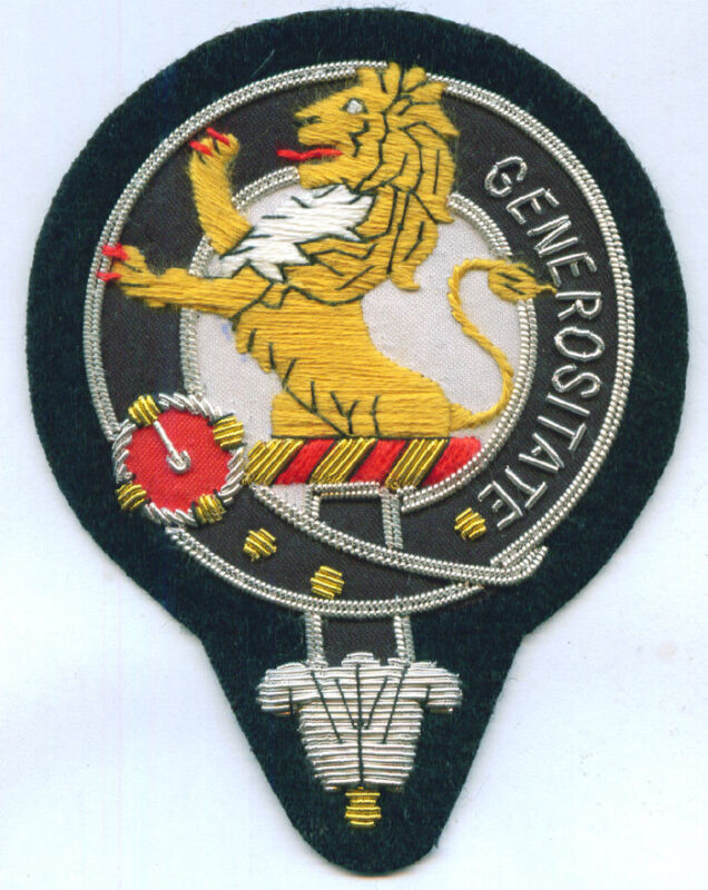 Royal Scottish Scotland Clan Nicolson Nicholson Crest Heraldry Family Name Patch