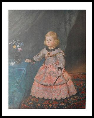 Diego Velazquez Infanta Margareta Theresia Poster Kunstdruck und Rahmen 90x70cm