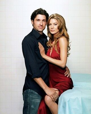 Patrick Dempsey   Ellen Pompeo In  Greys Anatomy  8X10 Publicity Photo  Zy 266
