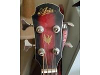 Aria Semi Acoustic Bass Guitar