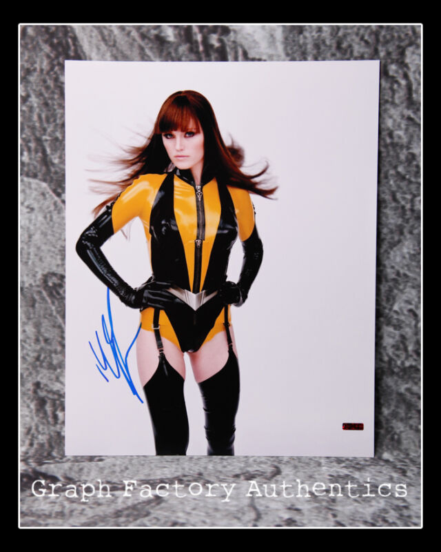 GFA Watchmen Movie Star * MALIN AKERMAN * Signed 11x14 Photo M2 COA