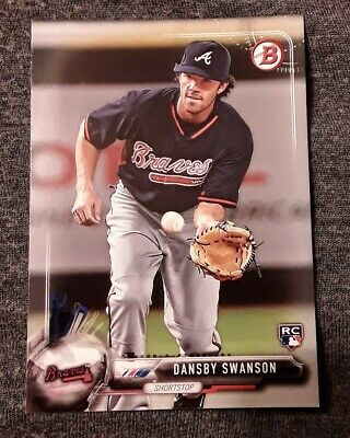 ⚾️2017 bowman DANSBY SWANSON (rookie) baseball card #57⚾️ *Braves* *DBacks*