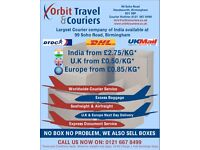 INDIA FROM £2.75 KG, AND WORLDWIDE COURIER SERVICE. U.K & EUROPE NEXT DAY DELIVERY.