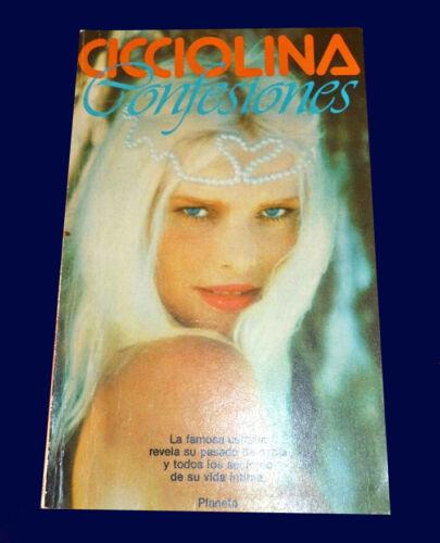 CICCIOLINA - CONFESIONES - AUTOBIOGRAPHY - Book Argentina 1988