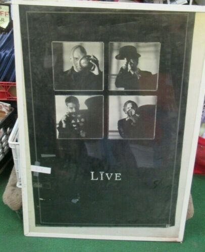 LIVE THE BAND POSTER NEW 1997 RARE VINTAGE COLLECTIBLE OOP   LICENSED