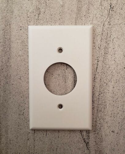 Telephone cover plate white WITH SCREWS