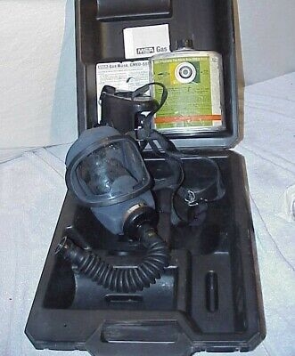 Msa Gas Mask Gmeo-ssw Entry Escape Respirator Canister Type Full Face