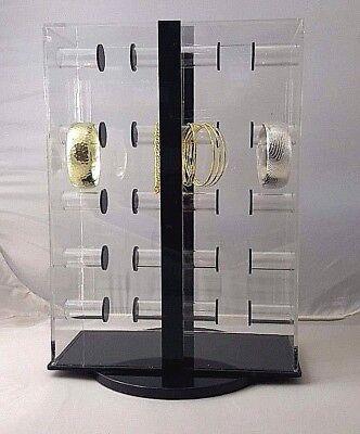 Clear Acrylic One-side Bracelet Spinning Lockable Bar Display 1sbd
