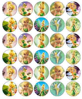 pcake Toppers Edible Wafer Paper BUY 2 GET 3RD FREE! (Tinkerbell Cupcake Toppers)