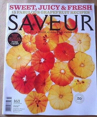 Saveur March 2014 Free Shipping  15 Fab  Grapefruit Recipes  Pork Chops Cuisine